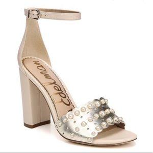 NWT Sam Edelman Yaria ivory block heel sandals 8